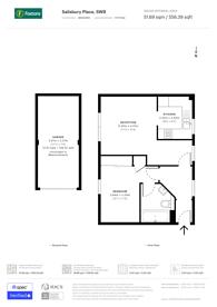 Large floorplan for Salisbury Place, Oval, SW9