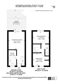Large floorplan for Burns Close, Wimbledon, SW19