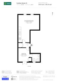 Large floorplan for Fordham Street, Whitechapel, E1