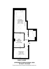 Large floorplan for Parkhurst Road, Holloway, N7