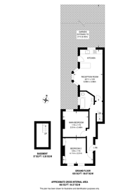 Large floorplan for Racton Road, West Brompton, SW6