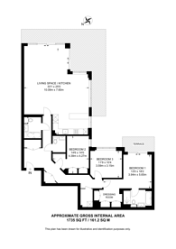 Large floorplan for Beaufort Park, NW9, Colindale, NW9