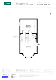 Large floorplan for Normand Road, Barons Court, W14