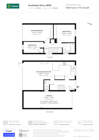 Large floorplan for Southdown Drive, West Wimbledon, SW20