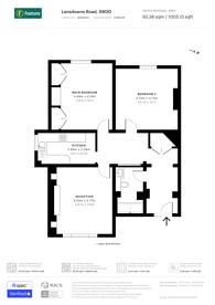 Large floorplan for Lansdowne Road, Wimbledon, SW20