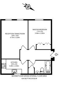 Large floorplan for Alfred Close, Chiswick, W4