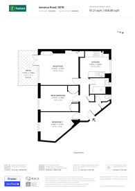 Large floorplan for Jamaica Road, Bermondsey, SE16