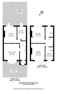 Large floorplan for Hillworth Road, Brixton Hill, SW2
