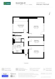 Large floorplan for Windmill Walk, Waterloo, SE1