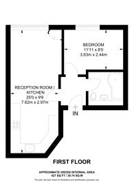 Large floorplan for Coldharbour Lane, Brixton, SW9
