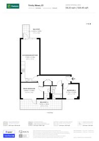 Large floorplan for Trinity Mews, Whitechapel, E1