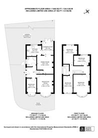 Large floorplan for Twickenham Road, Twickenham, TW7