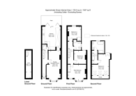 Large floorplan for Weiss Road, Putney, SW15