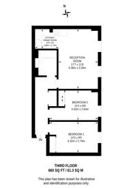 Large floorplan for Westking Place, Bloomsbury, WC1H