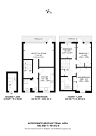 Large floorplan for Pembroke Road, Kensington, W8