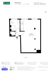 Large floorplan for Club Row, Shoreditch, E1