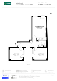 Large floorplan for Club Row, Shoreditch, E1