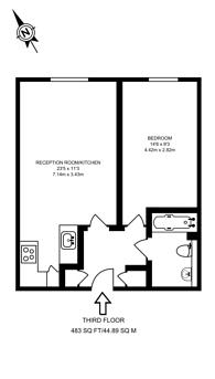Large floorplan for Roffey Street, Isle Of Dogs, E14