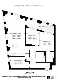 Large floorplan for Williamsburg Plaza, Canary Wharf, E14