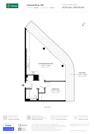 Large floorplan for Colonial Drive, Chiswick, W4