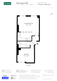 Large floorplan for Electric Avenue, Brixton, SW9
