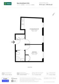 Large floorplan for West Smithfield, Clerkenwell, EC1A