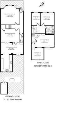 Large floorplan for Birkbeck Road, North Finchley, N12
