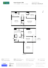 Large floorplan for Rupert Gardens, Brixton, SW9