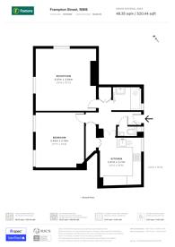 Large floorplan for Frampton Street, St John's Wood, NW8