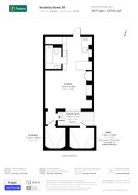 Large floorplan for Brooksby Street, Islington, N1