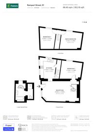 Large floorplan for Rampart Street, Aldgate, E1