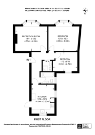 Large floorplan for Parkway, Camden Town, NW1