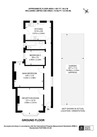 Large floorplan for Queen Mary Road, Upper Norwood, SE19