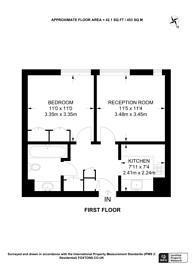 Large floorplan for Upper Thames Street, Blackfriars, EC4V