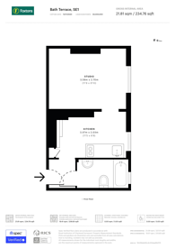 Large floorplan for Bath Terrace, Borough, SE1