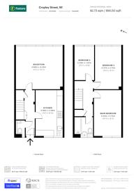 Large floorplan for Cropley Street, Hoxton, N1
