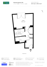 Large floorplan for Fairmont Avenue, Isle Of Dogs, E14