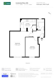 Large floorplan for Cumberland Place, SE6, Catford, SE6