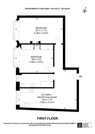 Large floorplan for Porchester Gardens, Bayswater, W2
