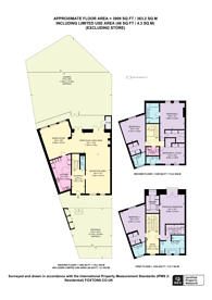 Large floorplan for Harley Road, Swiss Cottage, NW3