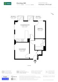 Large floorplan for Churchway, Euston, NW1