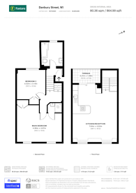 Large floorplan for Danbury Street, Islington, N1