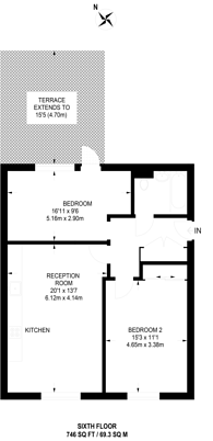 Large floorplan for Heath Parade, Colindale, NW9