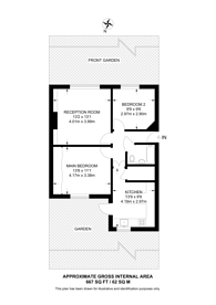 Large floorplan for Chestnut Grove, South Ealing, W5