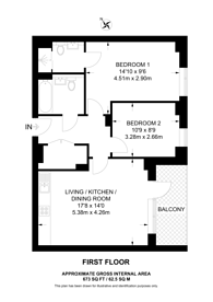 Large floorplan for Queensbury Square, Harrow Weald, NW9
