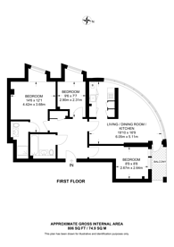 Large floorplan for Arc, Wallington, SM6