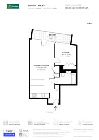 Large floorplan for Lookout Lane, Tower Hamlets, E14