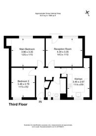 Large floorplan for Blythe Road, Brook Green, W14
