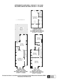 Large floorplan for Rookstone Road, Tooting, SW17