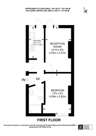Large floorplan for Porchester Road, Queensway, W2